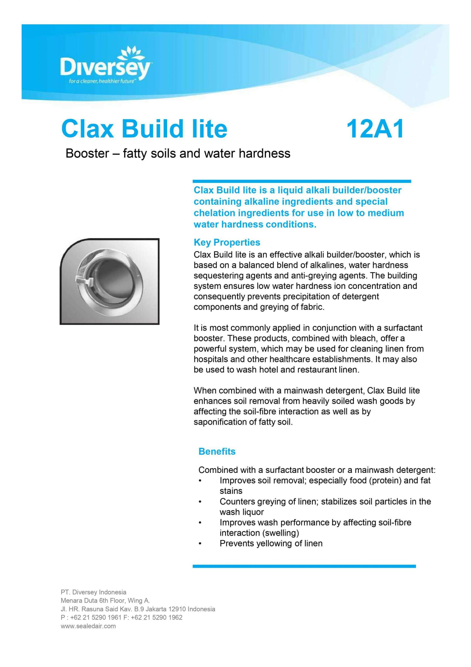 Laundry Diversey Clax Build Lite